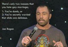Joe Rogan on gay marraige Find Memes, New Memes, Witty Remarks, Lgbt History, Funny Jokes, Hilarious, Feeling Unloved, Political Beliefs, Politics