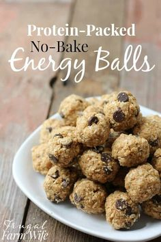 Healthy Recipes : Illustration Description These protein-packed no-bake energy balls are the perfect snack for school lunch boxes and road trips! Protein Bites, Protein Ball, Protein Snacks, Healthy Snacks, Healthy Recipes, Healthy Eating, Clean Eating, Healthy Breakfasts, Keto Snacks