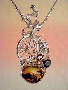 Gregory Pyra Piro #Schmuckkunst Silber und Gold mit #Edelsteinen Unikat #Anhängerschmuck Nr. 4287