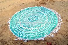 Tour de plage serviette ronde Mandala plage par infinibeaute Plus
