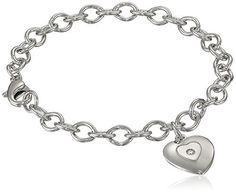 "Sterling Silver Pre-Teen Diamond Stamped Heart Charm Bracelet, 6.75"", http://www.amazon.com/dp/B002DW9CA2/ref=cm_sw_r_pi_awdm_QwGkxb11QVSME"