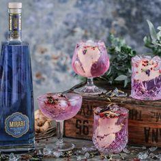 Mirari Blue Gin Premium Indian Tonic Water Ginger & Pink peppercorns to garnish Blue Gin, Tonic Water, Distillery, Alcoholic Drinks, Spices, Artisan, Indian, Food, Pink