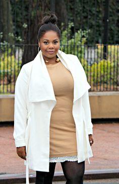 Plus Size Fashion - forever 21 plus size Belted Shawl Collar Coat