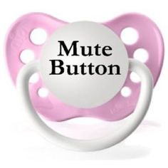Mute Button Pacifier - Pink