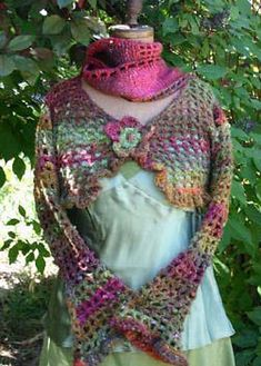 Ravelry: Lacy Crocheted Shrug pattern by Cathy Pipinich