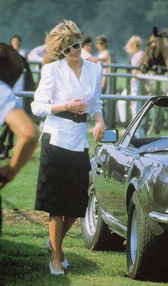 Diana Princess of Wales at a Polo Match