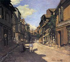 Monet. Honfleur.Rue de la Bavolle, Honfleur 1864 Mannheim