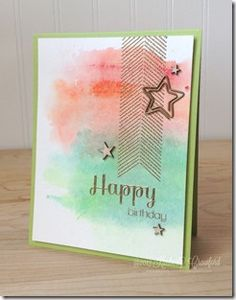 watercolor background with Gelatos by Kimberly Crawford. video turorial included.