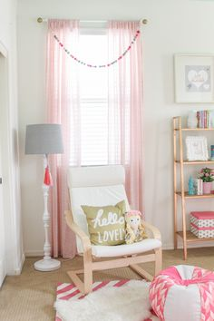 Project Nursery - Girls Nursery Window Treatment