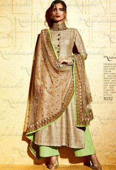 Once in a while, you stumble across perfection. Gold in tussar silk, and lime…