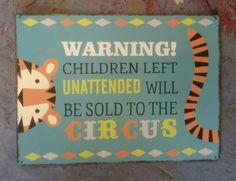 Circus Sign £4.99
