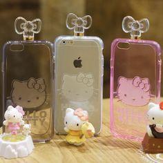 Genuine Hello Kitty Perfume Case iPhone 6 Case iPhone 6 Plus Case made in Korea #HelloKitty