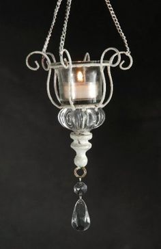 Hanging Crystal Candle Holder 12in Tall  412in Wide *** Find out more about the great product at the image link.
