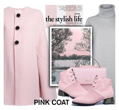"""Pretty Pink Coat"" by samketina ❤ liked on Polyvore featuring Jaeger, Roksanda, WithChic and pinkcoats"