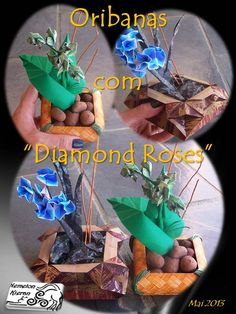 Origami, Flower Arrangements, Rose, Flowers, Floral Arrangements, Pink, Origami Paper, Roses, Origami Art