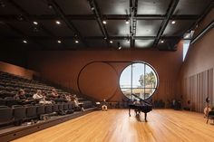 Image 9 of 34 from gallery of The Ian Potter Southbank Centre / John Wardle Architects. Photograph by Trevor Mein Public Architecture, Architecture Design, Ian Potter, John Wardle, University Of Melbourne, Suburban House, Hotel Interiors, Concert Hall, City Life