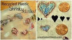 homemade shrinky dinks with recycled plastic