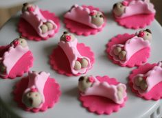 Whimsical Girl Baby Shower Fondant Toppers  by LesPopSweets, $19.99