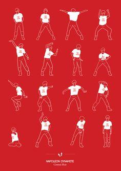 Napolean Dynamite dance illustrated | niegeborges