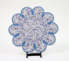 7 18 Cm Handmade Ceramic Trivet-TurquoiseBlue by BeyondTheSeaUS
