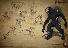 RWBY OC Grimm: Gargoyle by Cambosa1