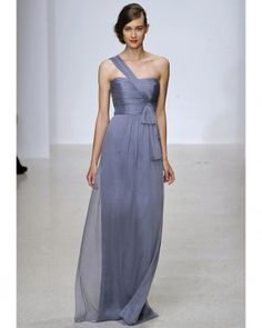 Amsale Spring 2013 soft purple gown. Photo by Firstview. Featured on www.marthastewartweddings.com.