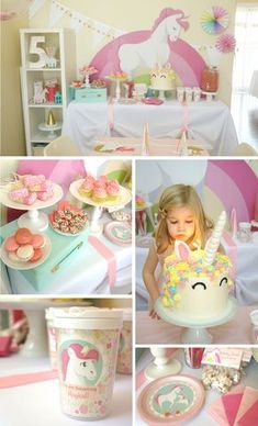 Magical Unicorn Party for a five-year-old! Best kids party ever! So much fun, with ideas for sweet treats, and activities.