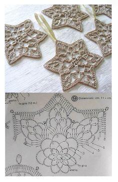 Crochet Snowflake Pattern, Christmas Crochet Patterns, Crochet Snowflakes, Crochet Squares, Crochet Stitches, Knit Crochet, Granny Square Bag, Christmas Crafts, Xmas