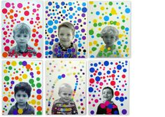 Yayoi Kusama-inspired self portraits Yayoi Kusama, Kindergarten Art, Preschool Art, School Art Projects, Art School, Classe D'art, Ecole Art, Art Classroom, Art Activities