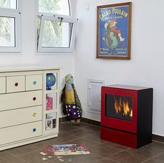 classic stove Bedroom fireplaces