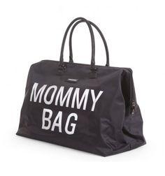Mommy Bag w kolorze czarnym firmy Childhome to elegancka i bardzo pojemna torba, która może posłużyć jako torba do szpitala, podręczna do wózka, podróżna.