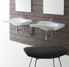 DU10 | Duemilasette Ceramica Simas Console 70 with single tap hole wall hung or to be mounted on stand