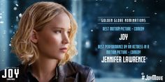 Congratulations to our JoyMovie nominees at the 2016 GoldenGlobes.