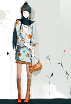 Sophie Griotto, gorgeous fashion illustration for the stylish contemporary urban woman