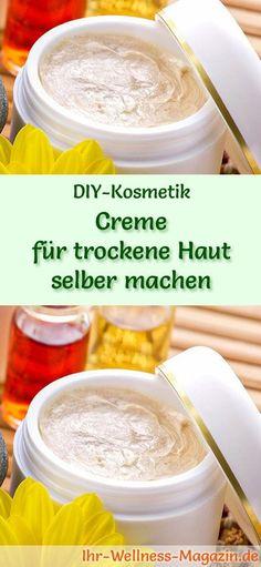 DIY-Kosmeti-Rezept: Creme für trockene Haut selber machen #diy #kosmetik #naturkosmetik #selbermachen #gesichtspflege