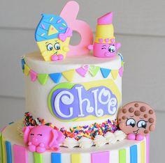 Rainbow Cloud Cake Topper Fondant and Gumpaste Shopkins Cake Toppers, Shopkins Birthday Cake, Fondant Cake Toppers, Birthday Cake Girls, Fondant Cakes, 7th Birthday, Birthday Ideas, Birthday Parties, Cupcakes