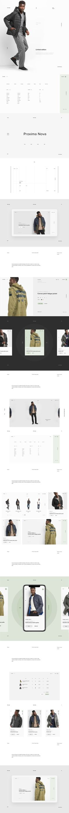 Limited store on Behance
