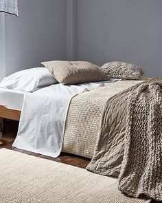 Merveilleux Eileen Fisher Waffle Weave Organic Cotton Bedding Collection