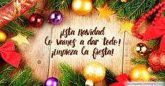 Imágenes de Navidad Christmas Bulbs, Holiday Decor, Home Decor, Facebook, Christmas Phrases, Xmas Pics, Merry Christmas, Cover Quotes, Decoration Home