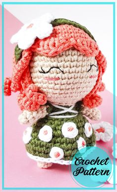 Doll Amigurumi Free Pattern, Amigurumi Doll, Cute Crochet, Crochet Dolls, Japanese Crochet, Elf Doll, Crochet Humor, Bobble Stitch, Crochet Hook Sizes