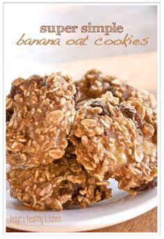 Helyn's Healthy Kitchen: Super Simple Banana Oat Cookies. Vegan, Oil-free and Sugar-free!