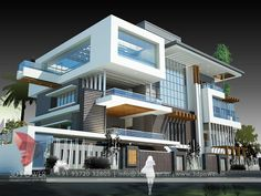 57 Home Exterior Design Ideas On Architectures Ideas Modern House Facades, Modern House Plans, Duplex House Design, Modern House Design, Style At Home, Ultra Modern Homes, Home Building Design, Luxury Homes Dream Houses, House Blueprints