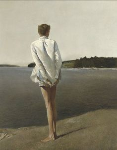 """ARTIST: Andrew Wyeth ~ """"Above the Narrows."""" 1960 (tempera on panel) Andrew Wyeth Paintings, Andrew Wyeth Art, Jamie Wyeth, Nc Wyeth, Beaux Arts Paris, Chadds Ford, Artist Biography, Portraits, Tempera"""