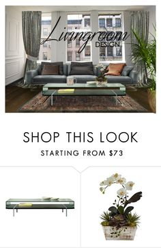 """""""Living room loft"""" by summer-marin ❤ liked on Polyvore featuring interior, interiors, interior design, home, home decor, interior decorating, Pacini & Cappellini, Nearly Natural, Whimsical Shop and living room"""