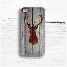 iPhone 5 Case Wood Print iPhone 5s Case Deer by HelloNutcase, $19.00