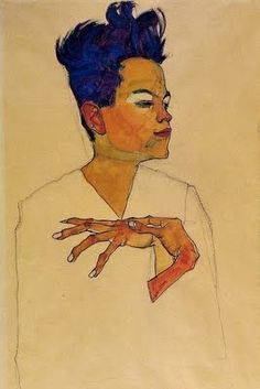 Always been enchanted with the way Egon Schiele drew hands.