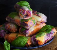 Healthy rice paper wraps (Pinterest / Christie at Food Done Light)