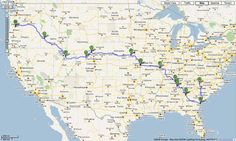 Five things to help plan a drive across country. Good advice. Having done the trip in various vehicles at least six times this seems like common sense. But not so if you have never driven this far!