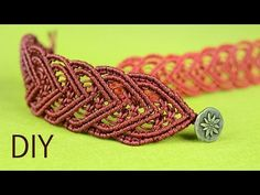 Amazing Macramé Heart Bracelet Tutorial ❤ - YouTube
