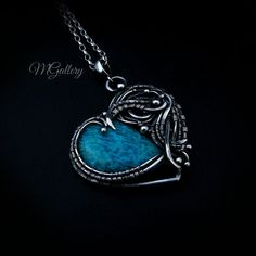 Promotion 20% off. Silver pendant with amazonite wire by GaleriaM